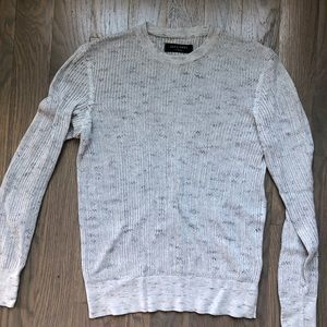ALL SAINTS LIGHT GREY SWEATER XTRA SMALL